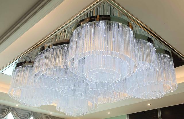 珠宝店水晶条吸顶灯