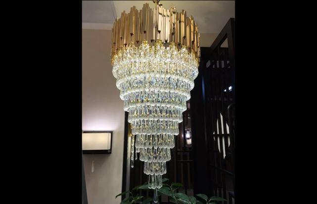 现代别墅水晶吊灯