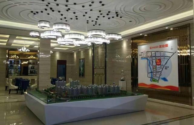 上海售楼部沙盘半环吊灯