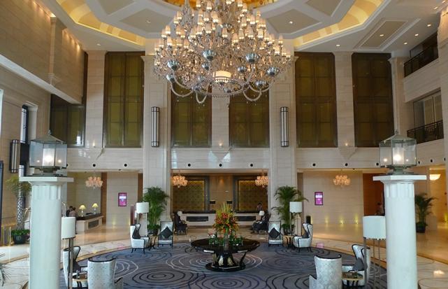 酒店大堂水晶布艺吊灯