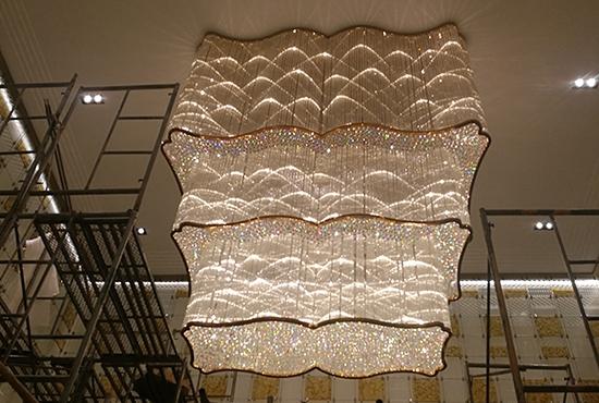 售楼部沙盘区水晶吸顶灯
