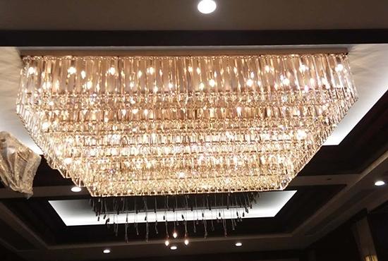 珠宝店方形水晶吸顶灯
