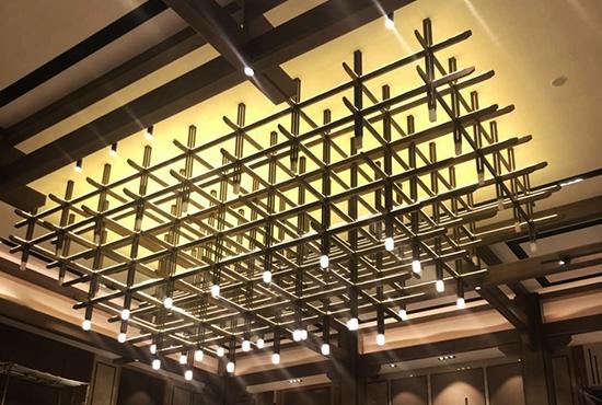 上海壹翠园售楼部沙盘吊灯